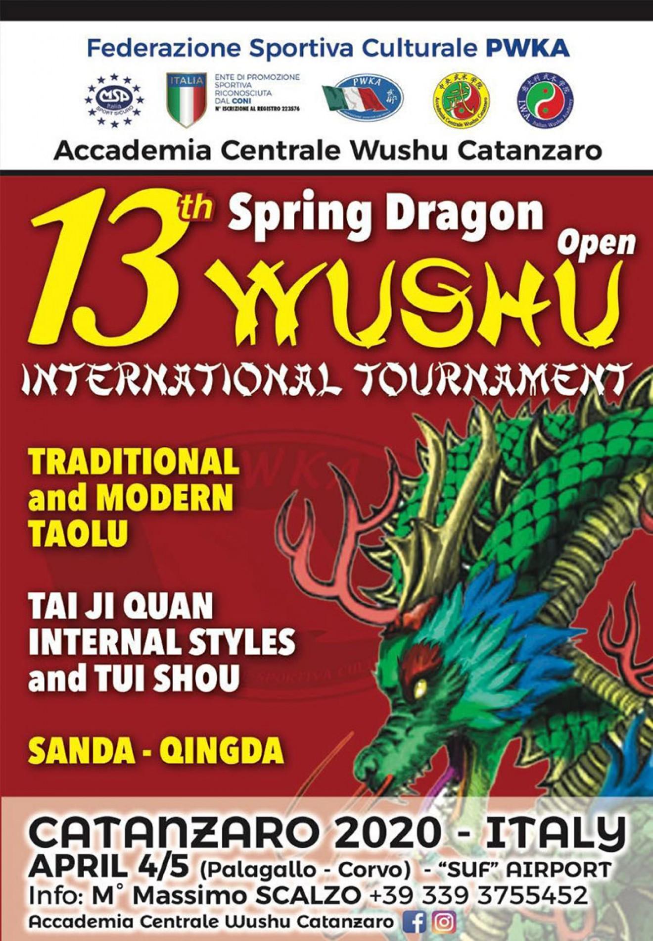 "13th ""SPRING DRAGON"" WUSHU OPEN INTERNATIONAL TOURNAMENT"