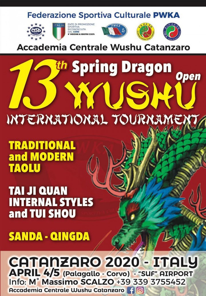 "13th ""SPRING DRAGON"" WUSHU OPEN INTERNATIONAL TOURNAMENT"