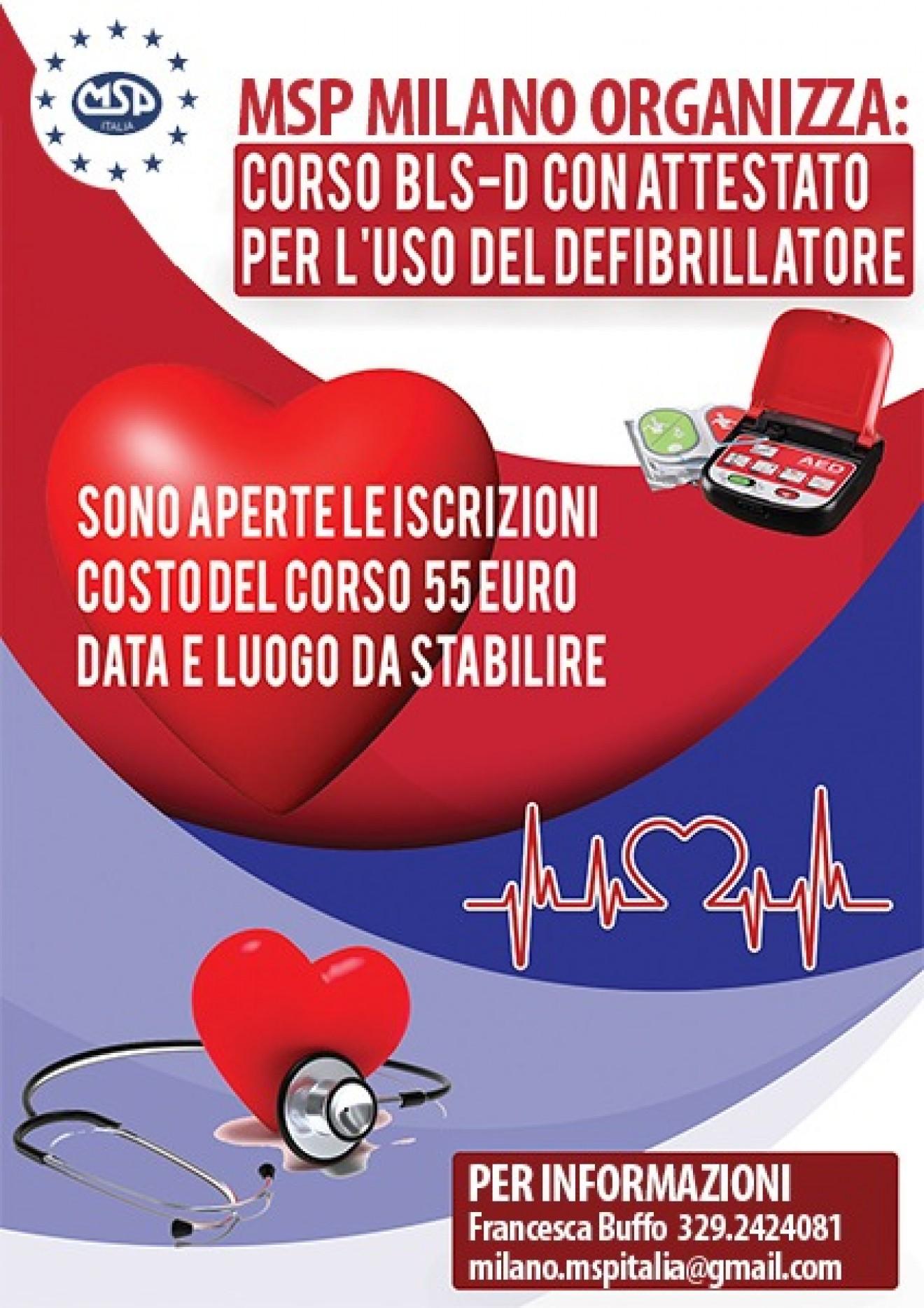 CORSO BLS-D CON ATTESTATO – per l'uso del defibrillatore
