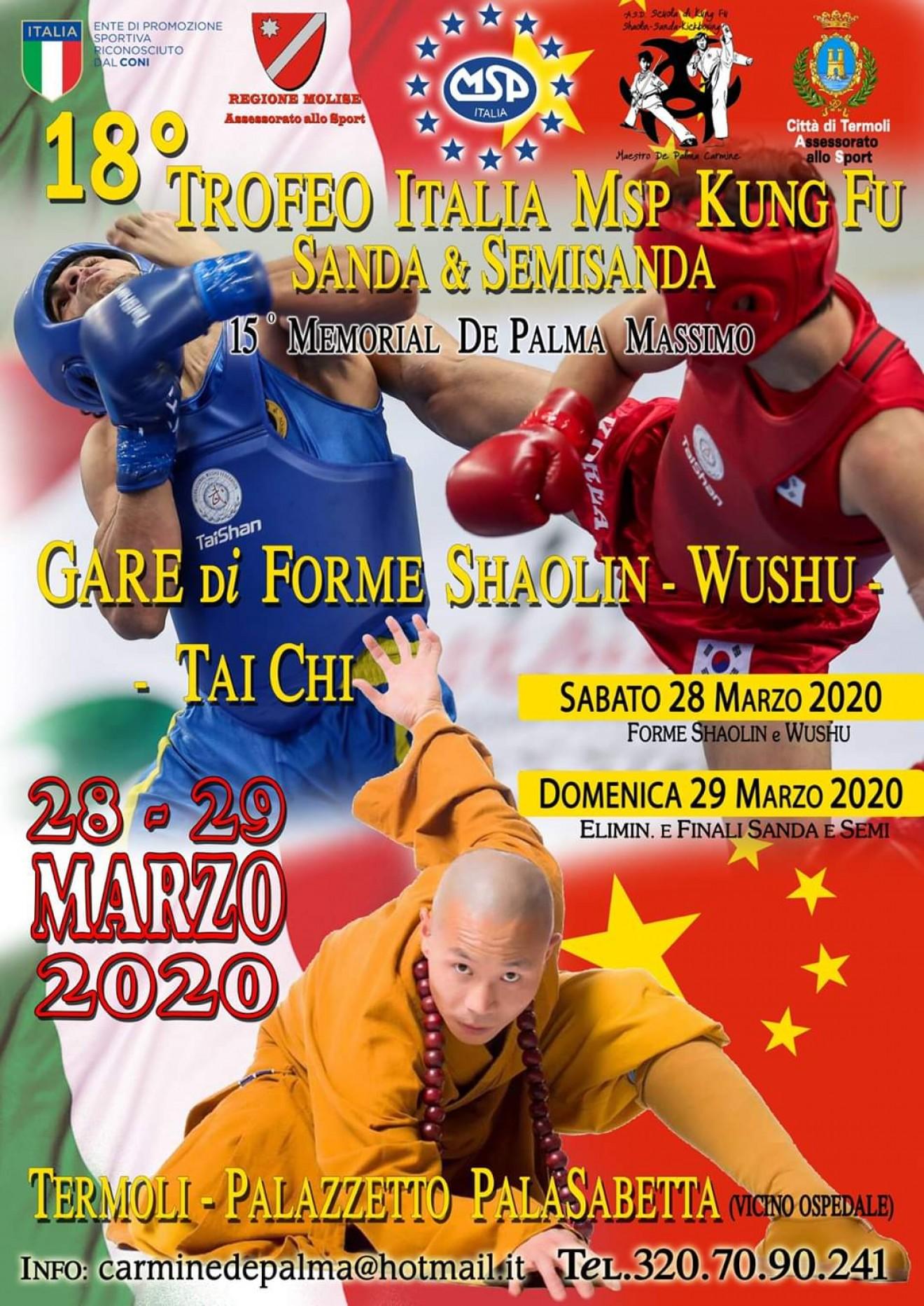 18° TROFEO KUNG FU SHAOLIN WUSHU TAICHI
